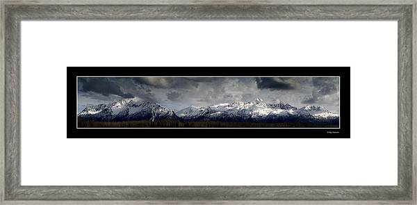 Chugach Mountains Framed Print