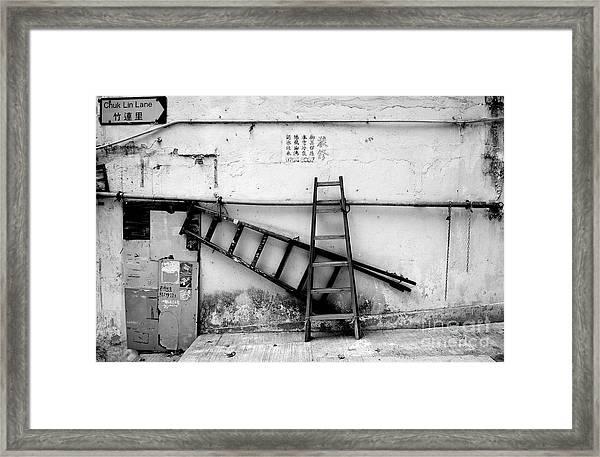 Chuk Lin Lane Still Life Framed Print by Dean Harte