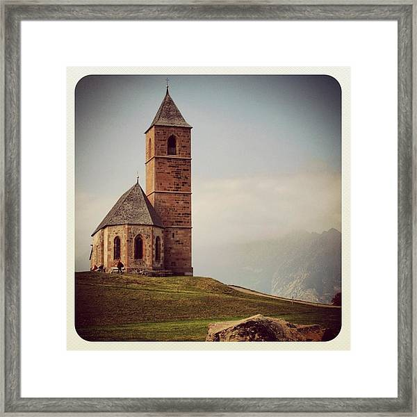 Church Of Santa Giustina - Alto Adige Framed Print