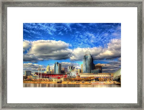 Cincinnati Skyline 2012 - 2 Framed Print