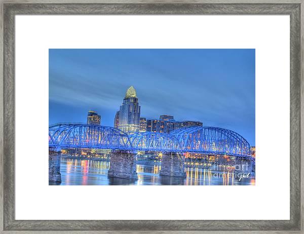 Cincinnati Skyline Framed Print