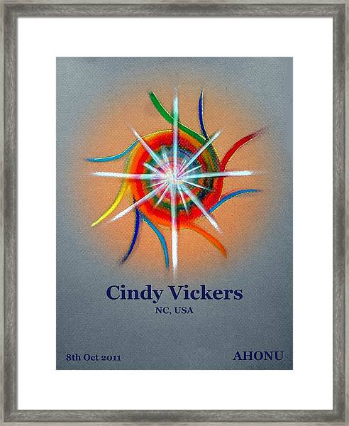 Cindy Vickers Framed Print