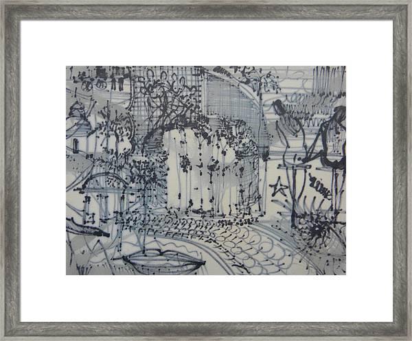 City Doodle Framed Print