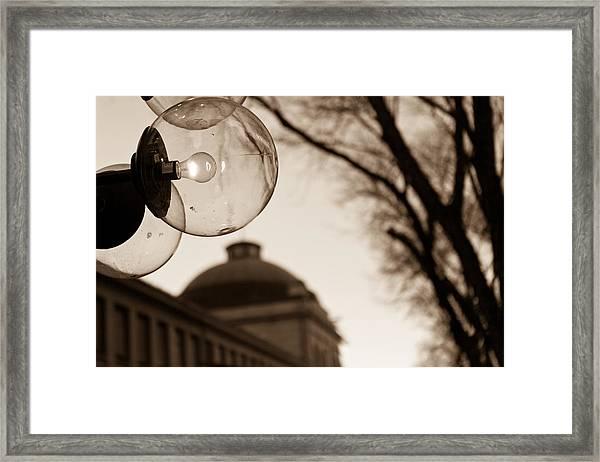 City Globes Framed Print