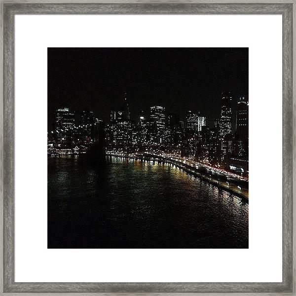 City Lights - New York Framed Print