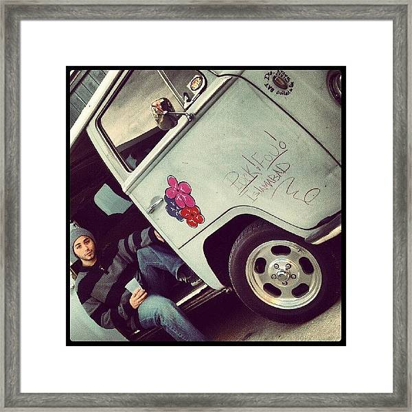 #classic #cars #vw #bus #me #model Framed Print