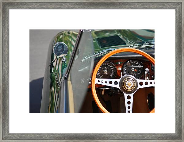 Classic Green Jaguar Artwork Framed Print