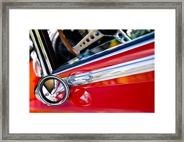 Classic Red Car Artwork Framed Print