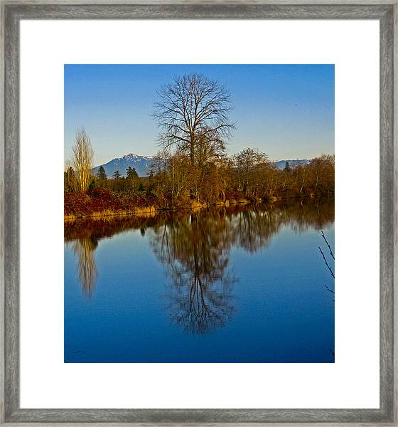 Clear And Cold Framed Print by Seth Shotwell