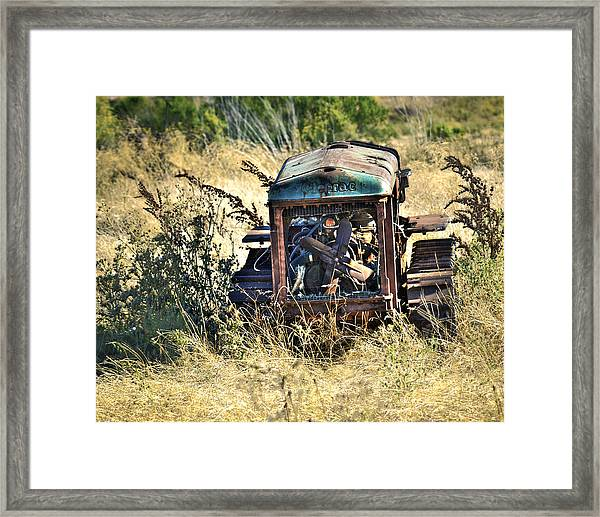 Framed Print featuring the photograph Cletrac Tractor by William Havle