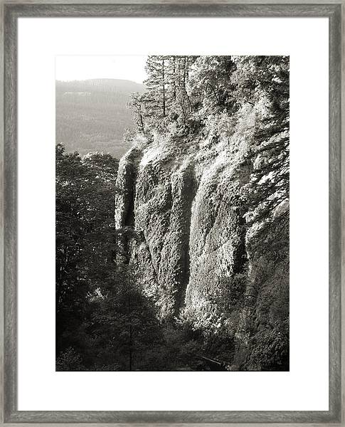 Cliff Face Columbia River Gorge  Framed Print