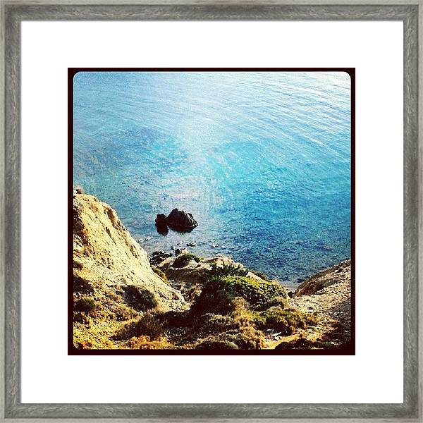 Climb Down To Secret Beach (not So Framed Print