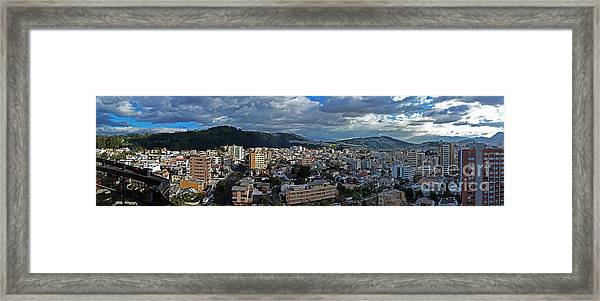 Close Of Business - Quito - Ecuador Framed Print