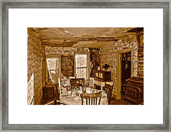 Closed For Renovations Framed Print