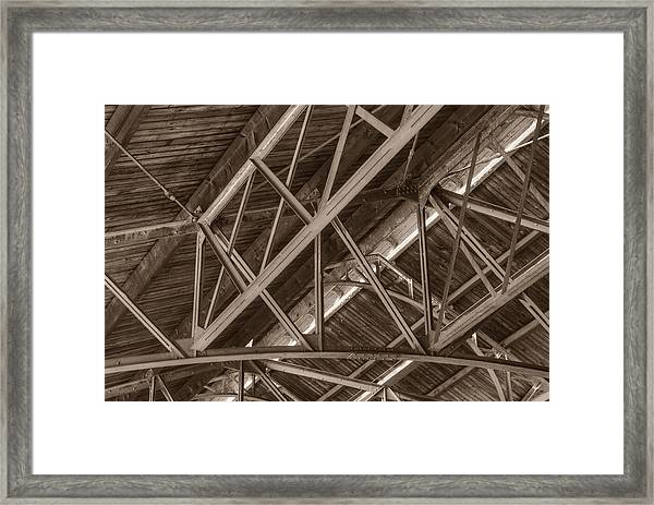 Closeup Of Trusses Framed Print
