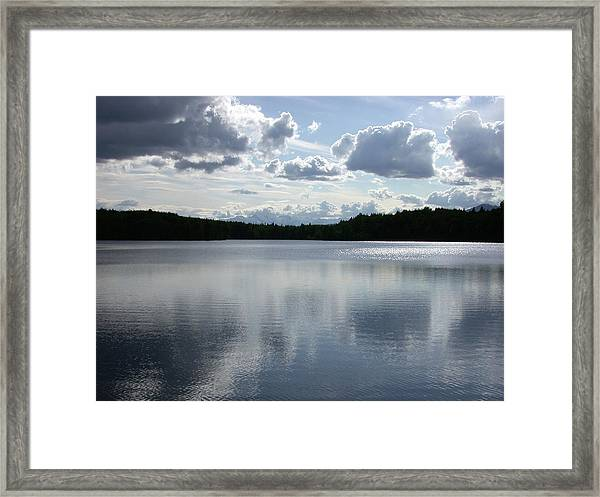 Clouds Over Lake Framed Print