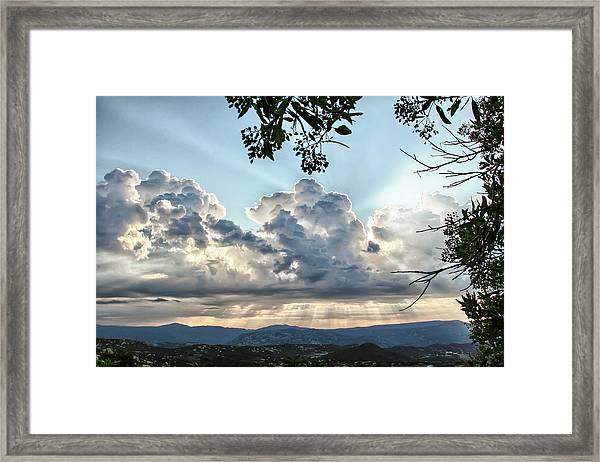 Cloudspiration Framed Print