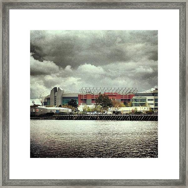 #cloudy #weather In #manchester Framed Print