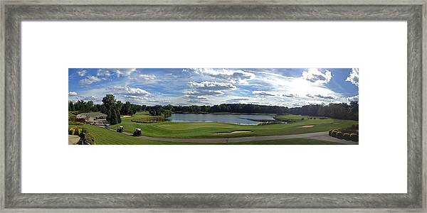 Club House Panorama Framed Print