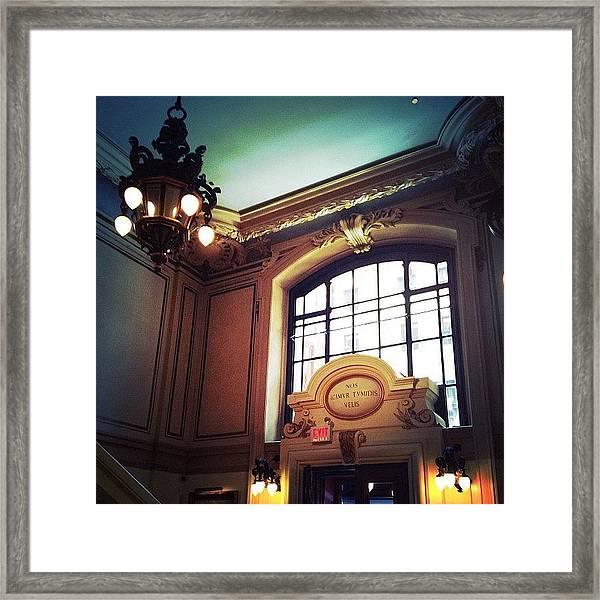 Club Lobby Framed Print
