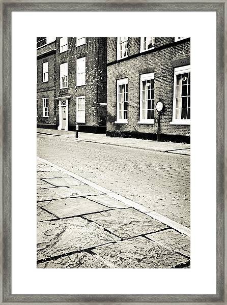 Cobbled Street Framed Print