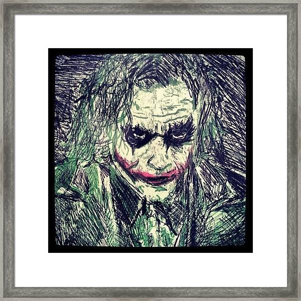 College Work 08' #joker #art Framed Print