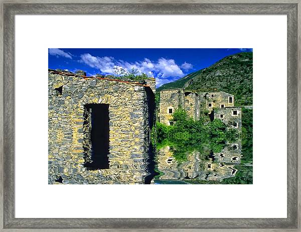 Colletta Di Castelbianco In Val Pennavaire Framed Print by Enrico Pelos