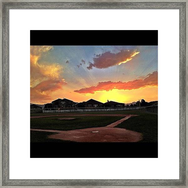 Colo. Sunsets Are The Most Beautiful In Framed Print