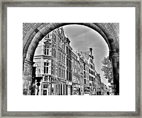 Cologne On The Rhine In Germany Framed Print