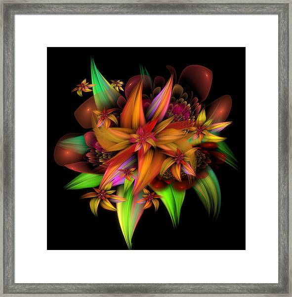 Color In Bloom Framed Print