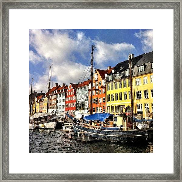 Color In Copenhagen Framed Print