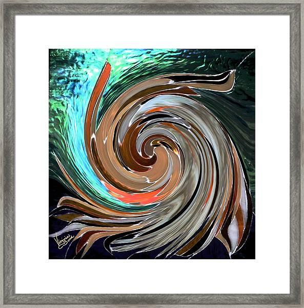 Color In Motion Framed Print
