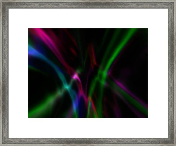 Framed Print featuring the digital art Color Rays by Mihaela Stancu