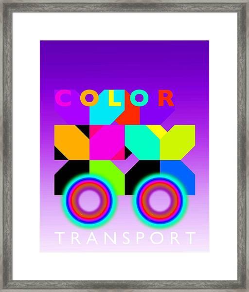 Color Wheels Framed Print