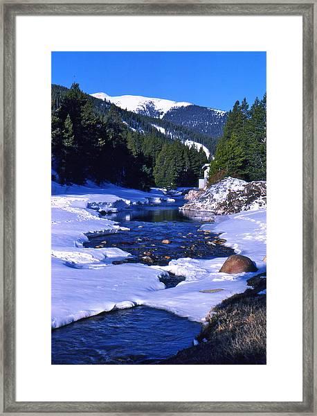 Colorado Mountain Stream Framed Print