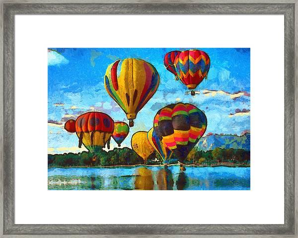 Colorado Springs Hot Air Balloons Framed Print