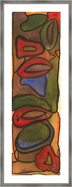 Colored Shapes Framed Print