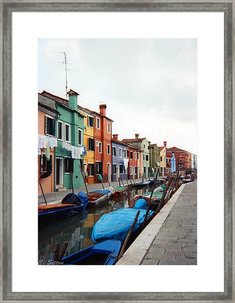 Colorful Burano Framed Print