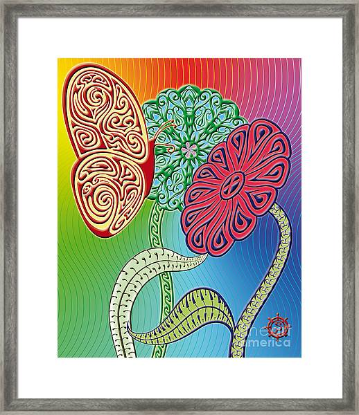 Colorful Butterfly Framed Print by Santi Goma Rodriguez