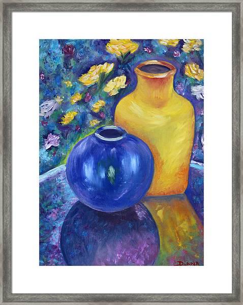 Colorful Jars Framed Print