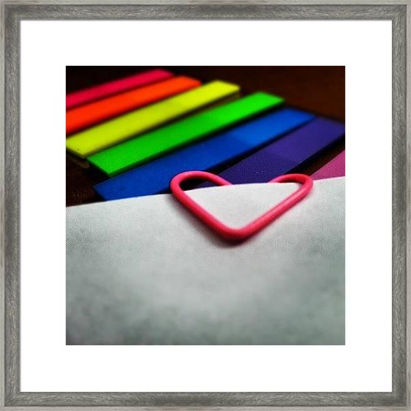 Colorful Love Framed Print