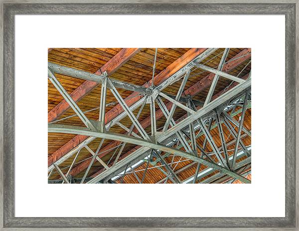 Colorized Trusses Framed Print