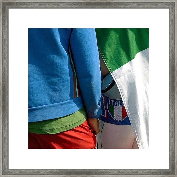 Colors Of Italy - Green White And Red Framed Print