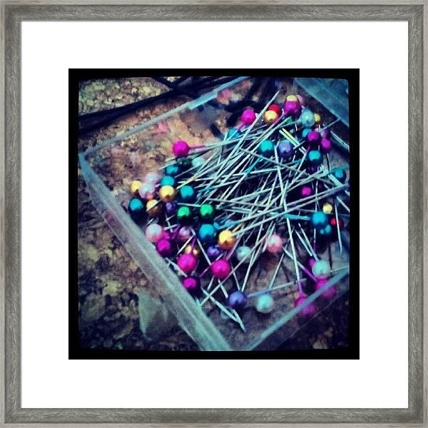 Colourful Pins Framed Print