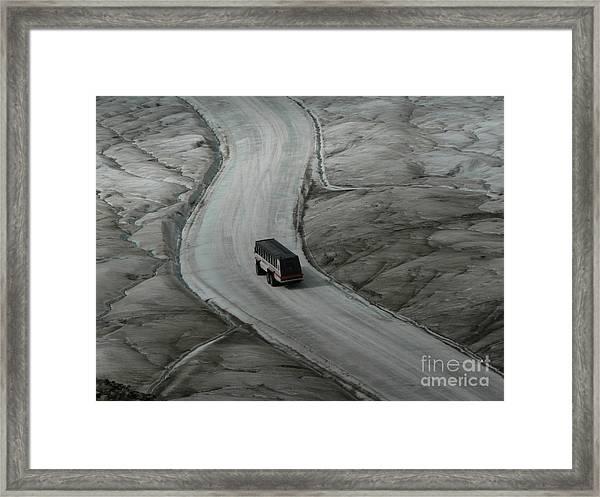 Columbia Icefield Glacier Adventure Framed Print