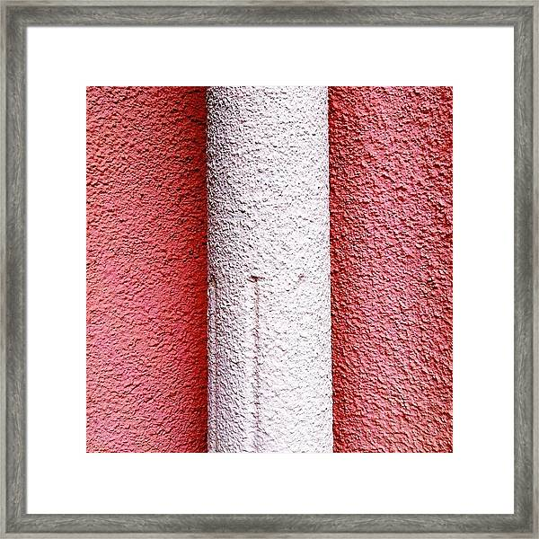 Column Detail Framed Print