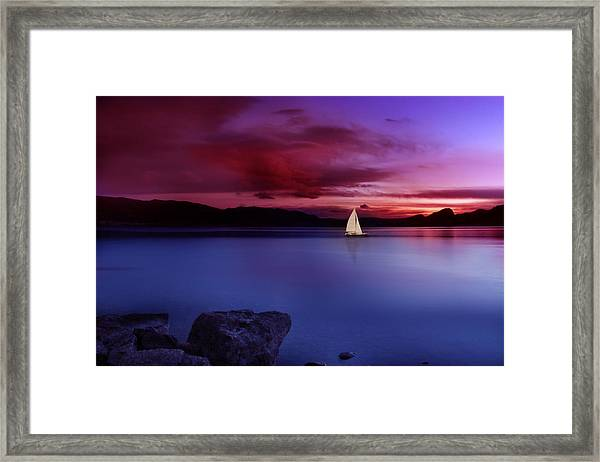 Come Sail Away Framed Print