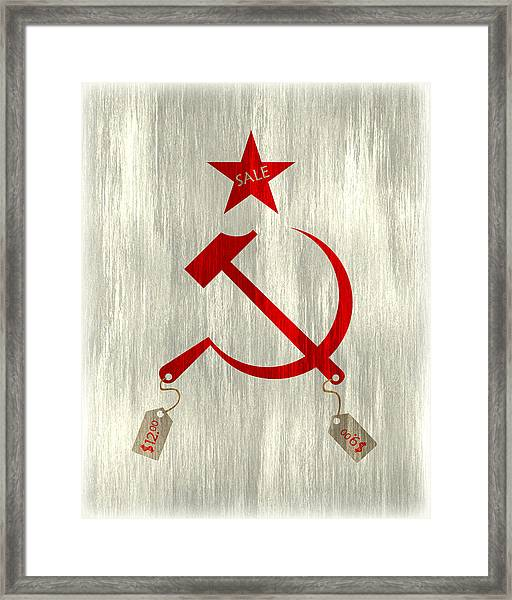 Communism Vs. Capitalism Framed Print by Bojan Bundalo