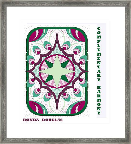 Complementary Harmony Framed Print
