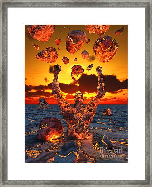 Conceptual Image Based On The Biblical Framed Print